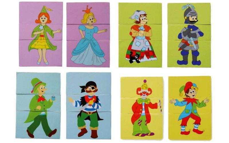 Woody Puzzle 3-dílné Pohádkové postavy