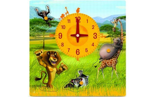 Woody Puzzle hodiny - Madagaskar