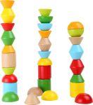 Stavební cihly barevné, sada 30 dílů