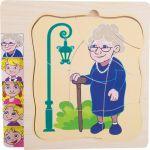 Vrstvené puzzle babička