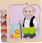 Vrstvené puzzle dědeček
