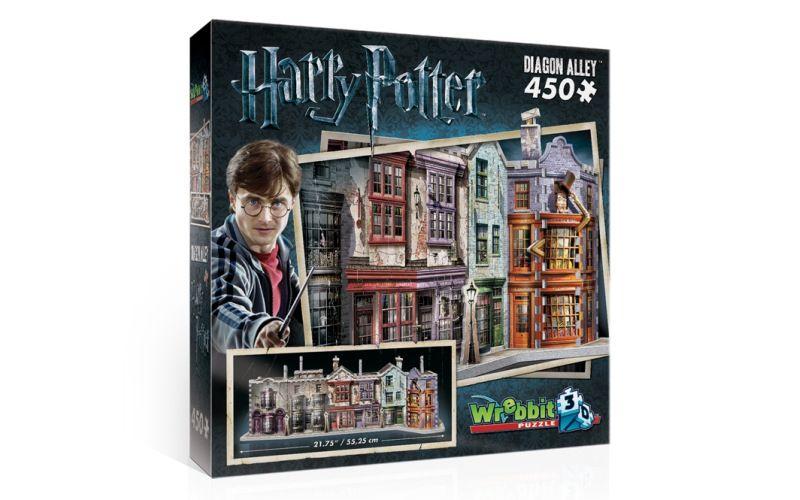 Wrebbit 3D puzzle Harry Potter Příčná ulice 450 dílků