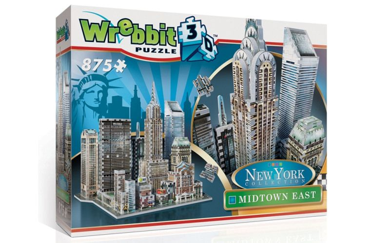 Wrebbit 3D puzzle New York Midtown East 875 dílků