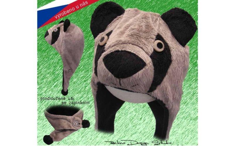 Rockino Dětská čepice ROCKINO Medvěd Grizzly Velikost 48