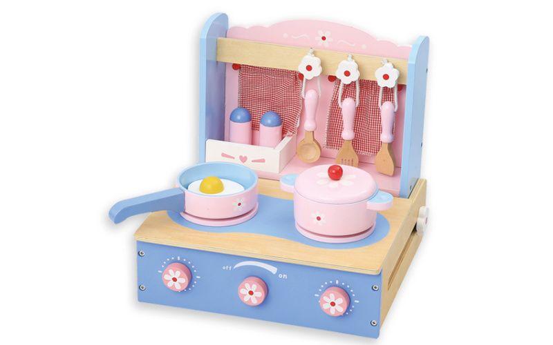 Dětská modrá stolní kuchyňka