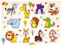 Dřevěné puzzle safari 11 dílků