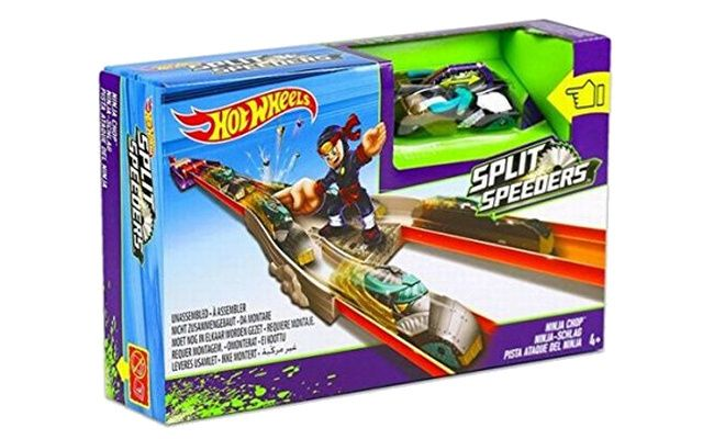 Mattel Hot Wheels Split speeders dráha s ninjou