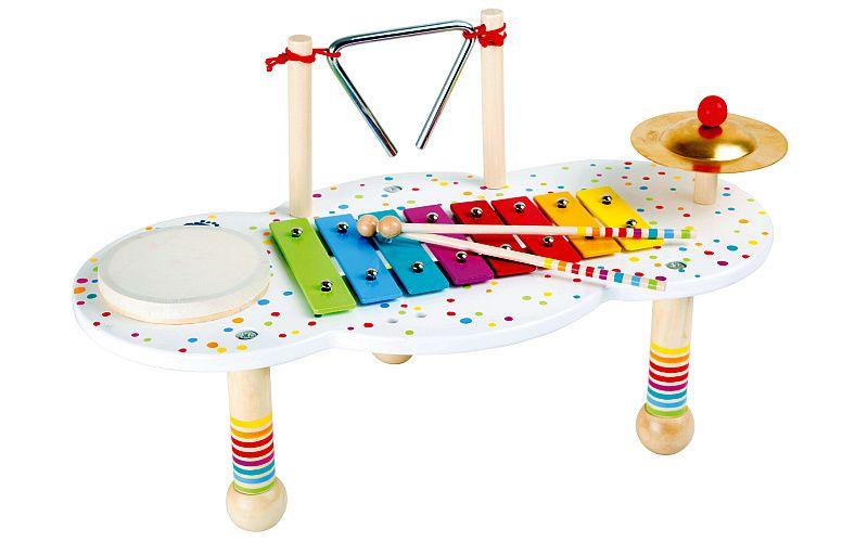 Hudební muzikální stoleček s puntíky