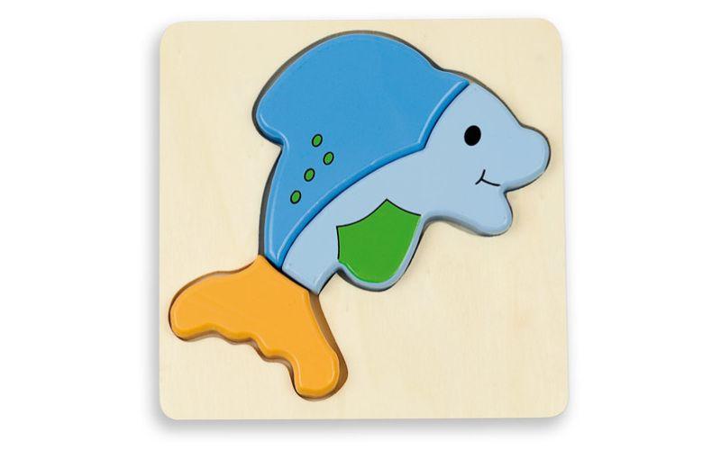 Andreu Toys Puzzle pro nejmenší - delfín