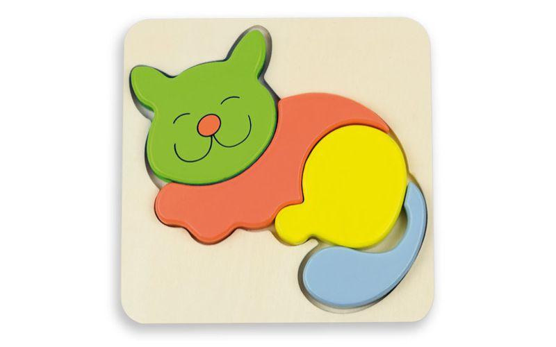 Puzzle pro nejmenší - kočička