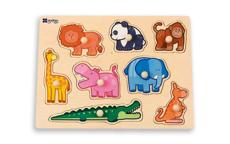 Andreu Toys Puzzle Zvířata v džungli