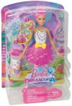 Barbie bublinková víla 29 cm růžová