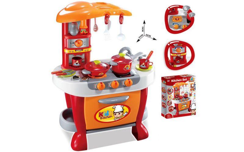 Dětská kuchyňka G21 Malý kuchař s příslušenstvím, oranžová
