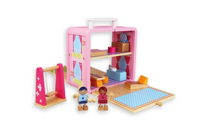 Andreu Toys Domeček pro panenky v kufříku