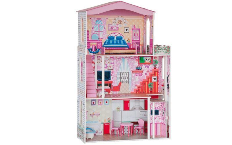Woody Domeček - velký, 7ks nábytku, pro panenky typu Barbie