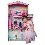 Domeček - velký, 7ks nábytku, pro panenky typu Barbie