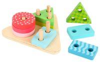 Dřevěné puzzle Geometrické tvary