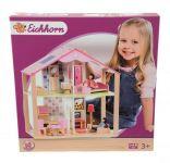 Dřevěný domeček pro panenky s příslušentvím