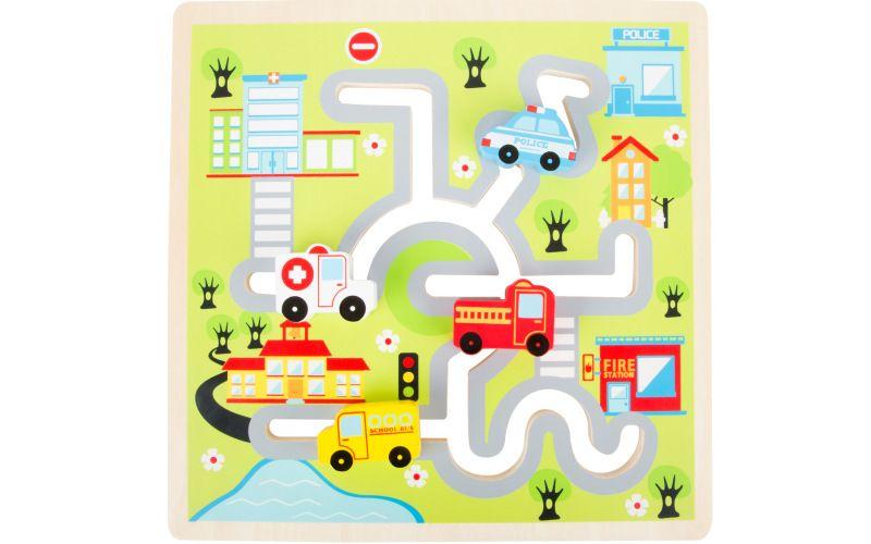 Legler Dřevěný labyrint - puzzle město