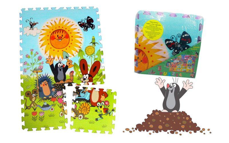 HM Studio Pěnové puzzle Krtek 30 x 30 cm - 6ks