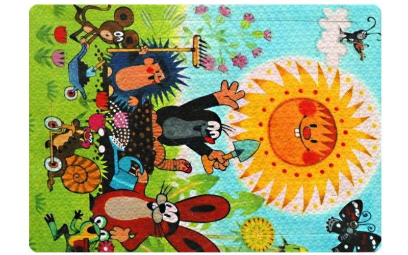 HM Studio Pěnové puzzle Krtek a sluníčko 24 dílků