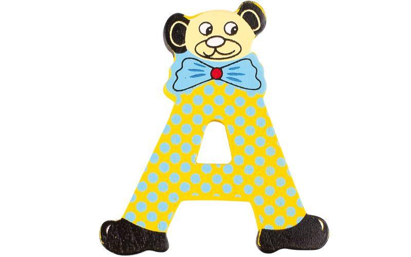 Písmeno A s medvídkovým klaunem
