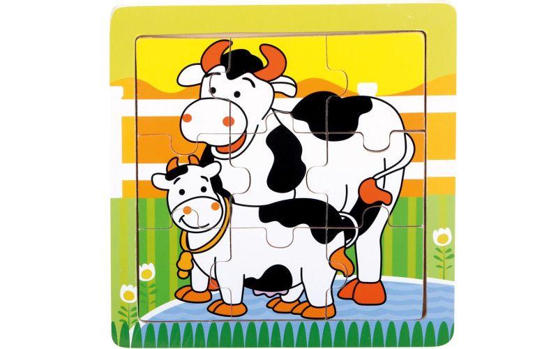 Puzzle kravičky 9 dílků