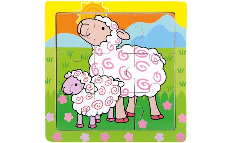 Puzzle ovečky 9 dílků