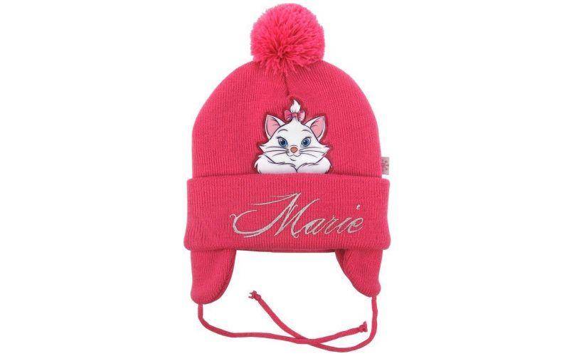 Zimní baby čepice Kočka Marie ušanka červená