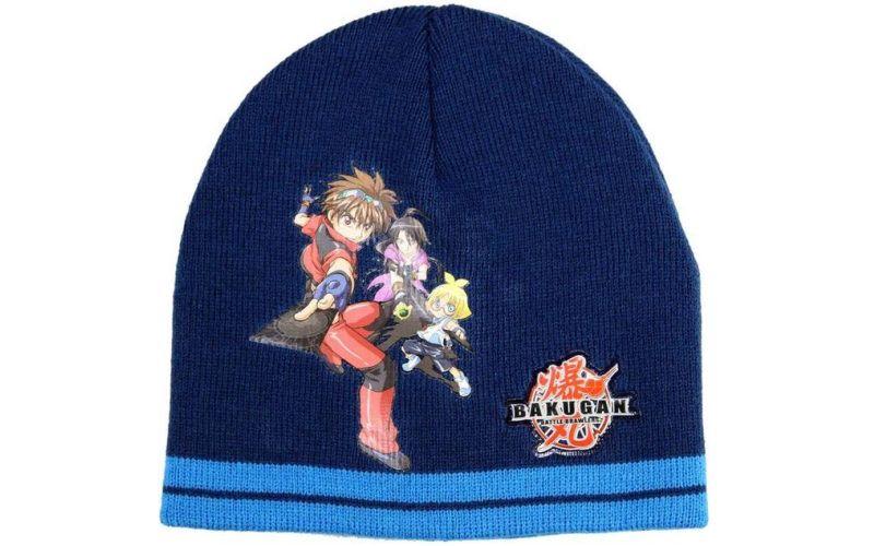 Zimní čepice Bakugan modrá se světlým lemem